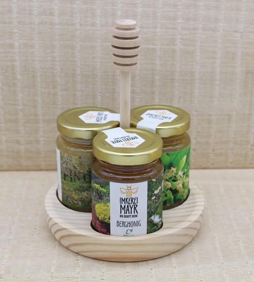 Honigständer mit 3 x 125g Bio-Honig