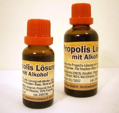 Propolis Lösung mit Alkohol